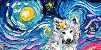 This Artist Recreates Van Gogh's Starry Night With Cute Dogs
